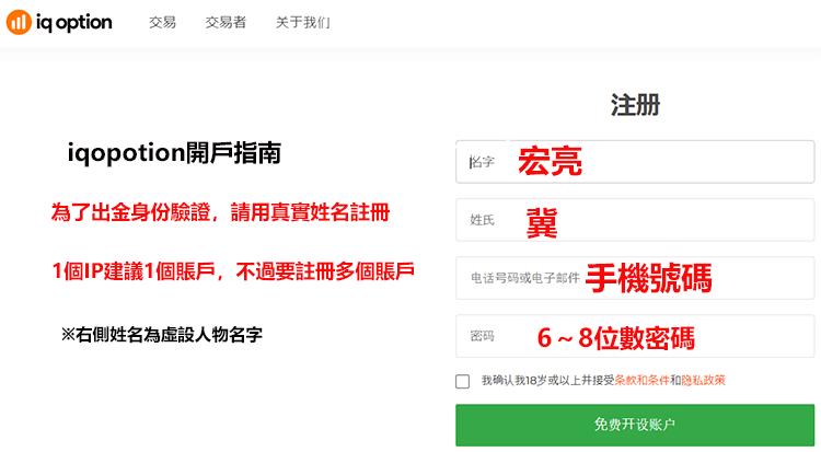 iqoption官網中文註冊方法