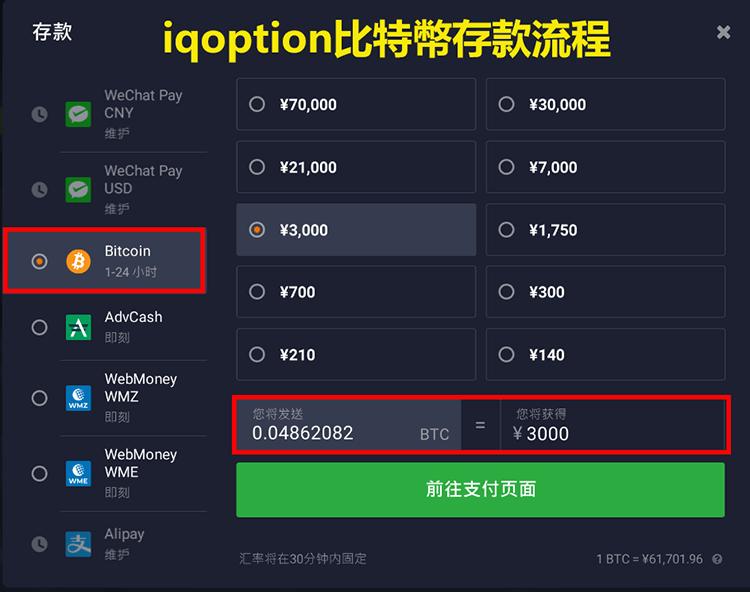iqoption入金-iqoption比特幣存款流程