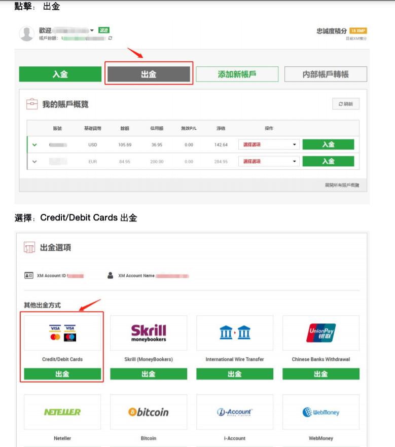 "XM外匯平台信用卡出金"""